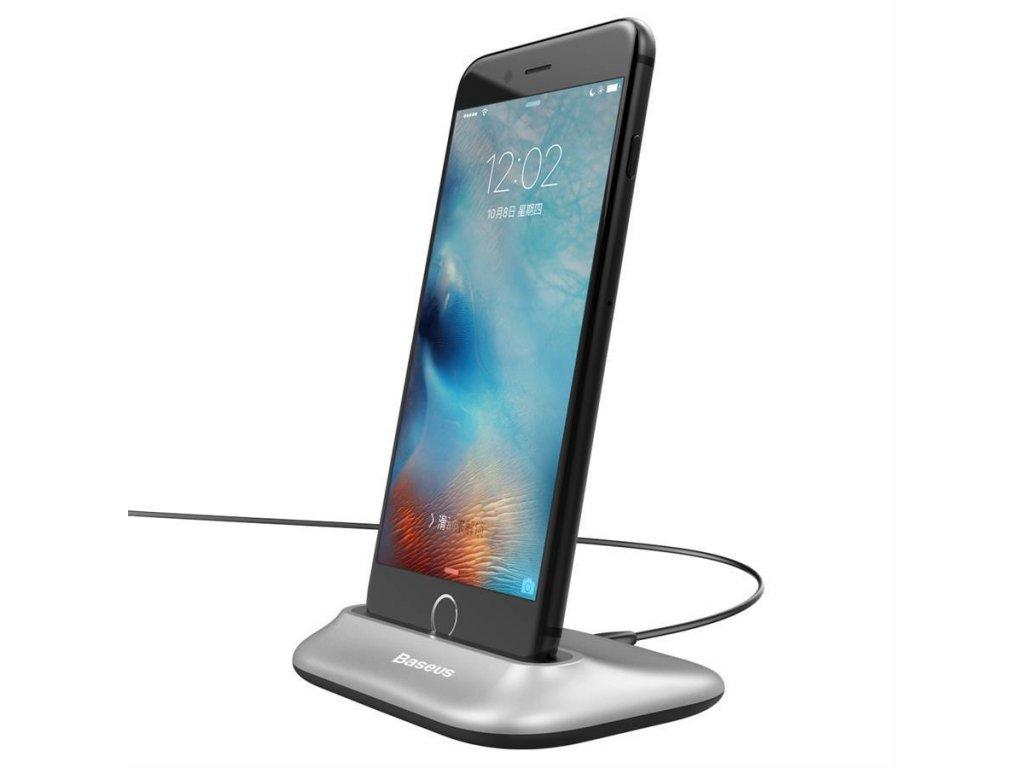 Dokovacia stanica Baseus pre iPhone - strieborná