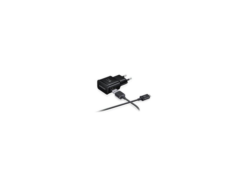 Originálna sieťová nabíjačka Samsung + kábel - čierna