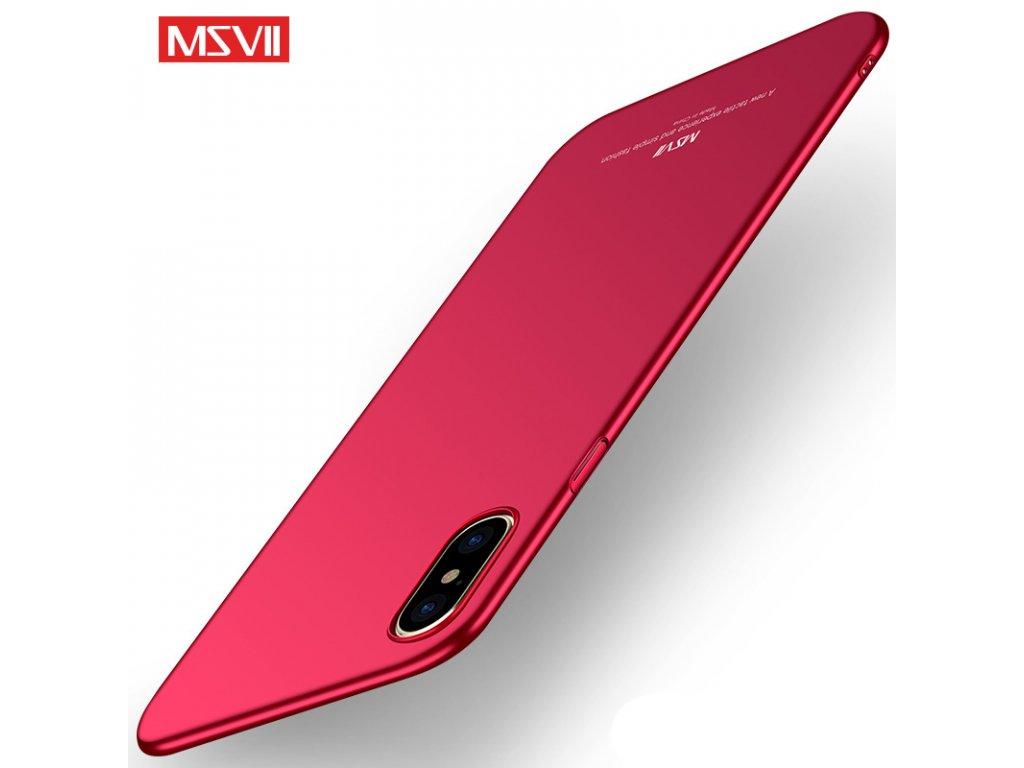 Plastový kryt pre iPhone X - simple red