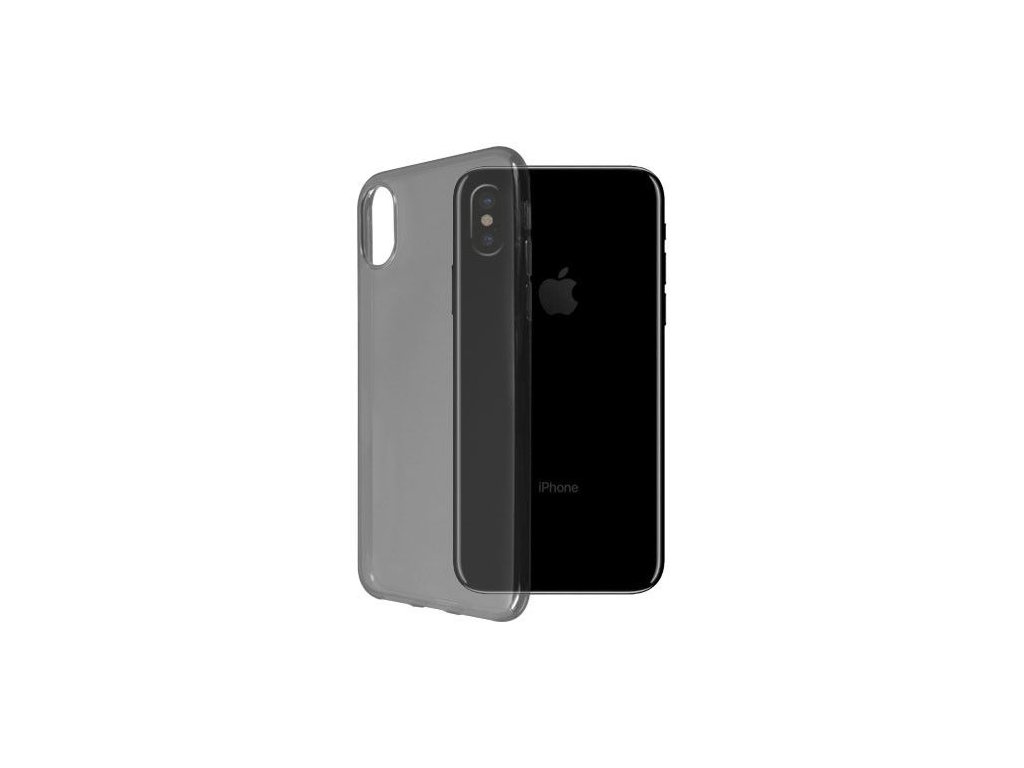 Silikónový kryt pre iPhone X - čierny
