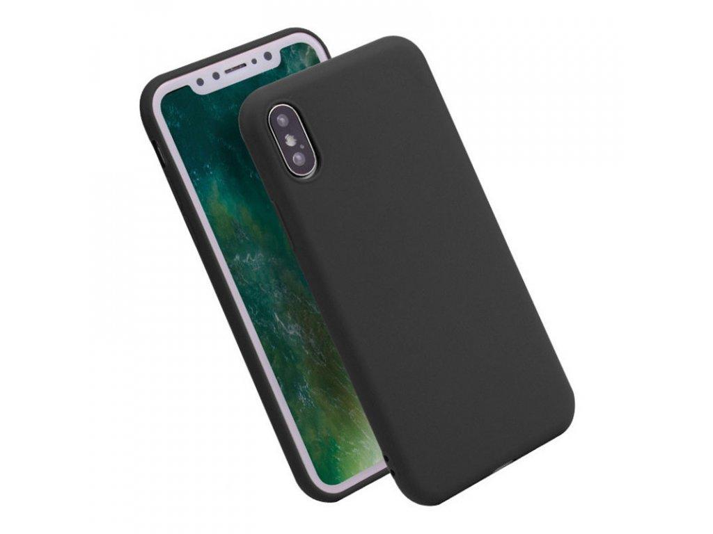 Silikónový kryt (obal) pre iPhone X - black (čierny)