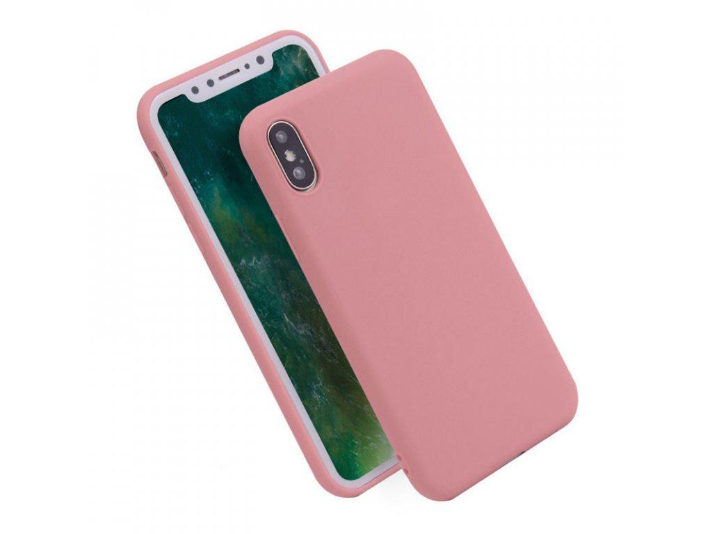 Silikónový kryt (obal) pre iPhone X - pink (ružový)
