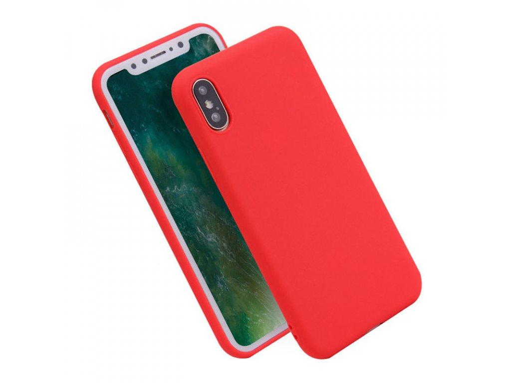 Silikónový kryt (obal) pre iPhone X - red (červený)