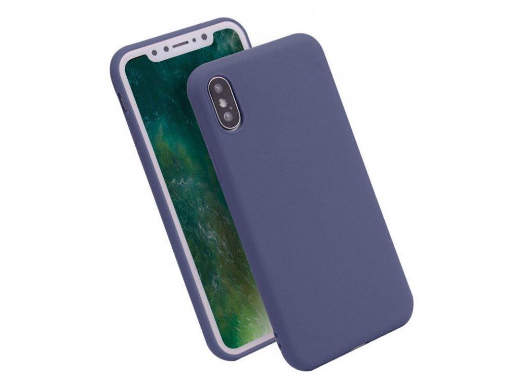 Silikónový kryt (obal) pre iPhone X - dark blue (tm. modrý)