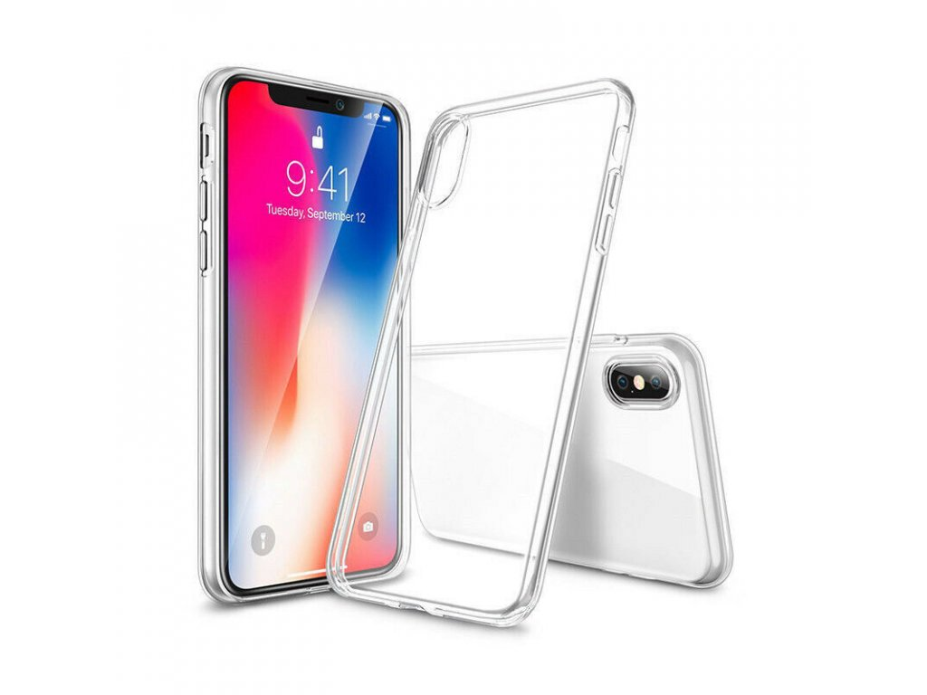 Silikónový kryt (obal) pre iPhone X - clear (priesvitný) 1e5de8ee871