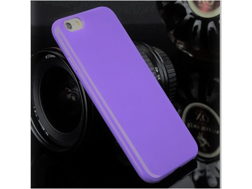 Silikónový obal na Iphone 4/4S fialový