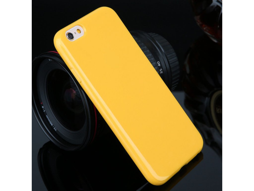 Silikónový kryt (obal) pre Iphone 5C - yellow (žltý)
