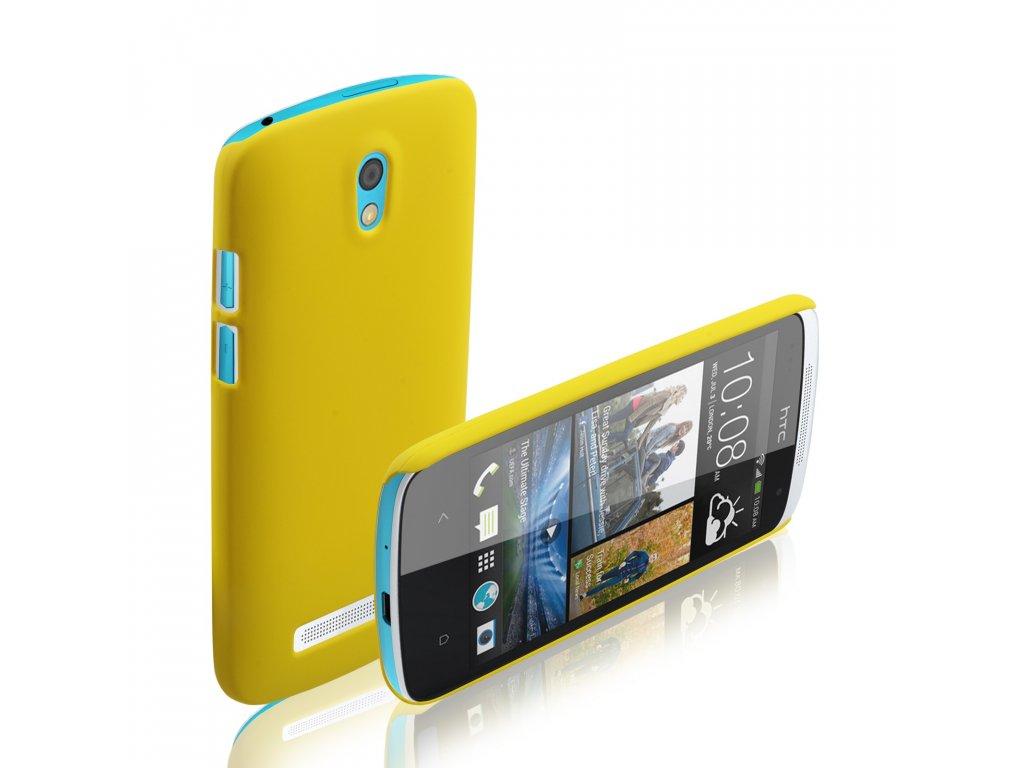 Plastový kryt (obal) pre HTC Desire 500 - yellow (žltý)