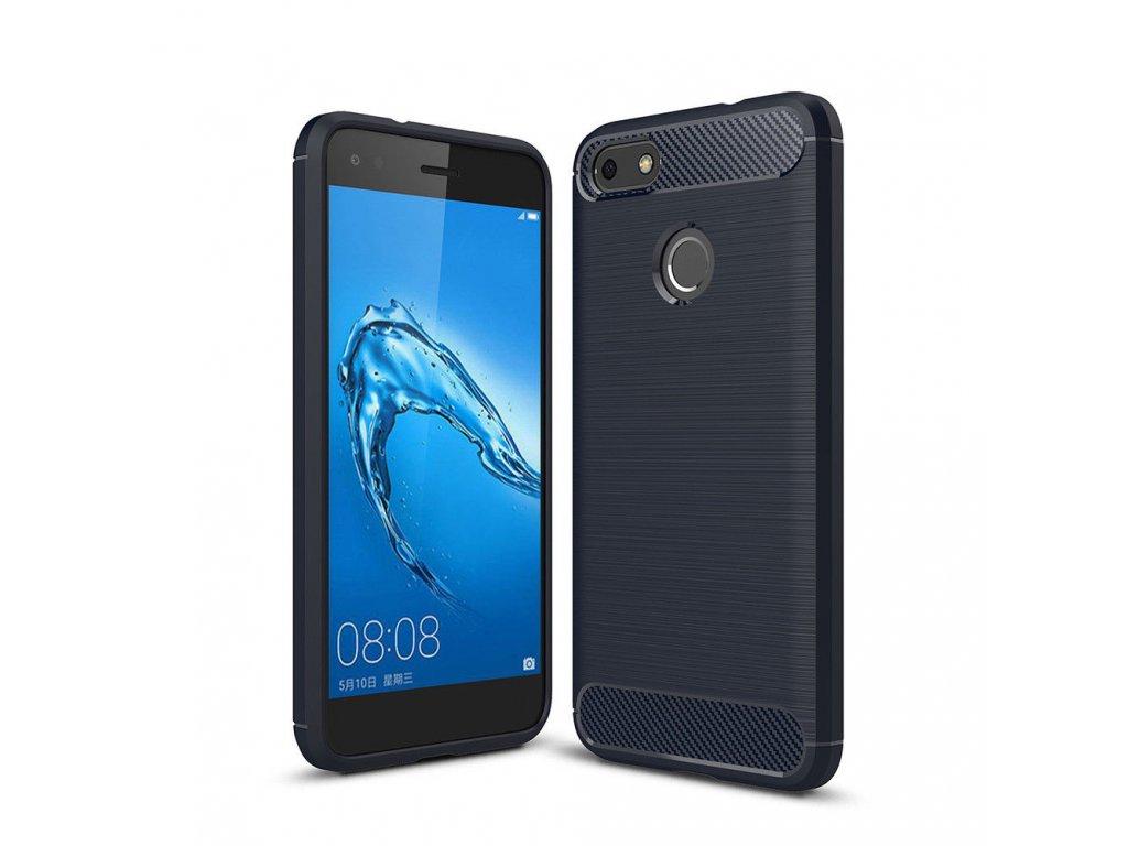 Silikónový obal na Huawei Ascend P9 lite 2017 tm. modrý