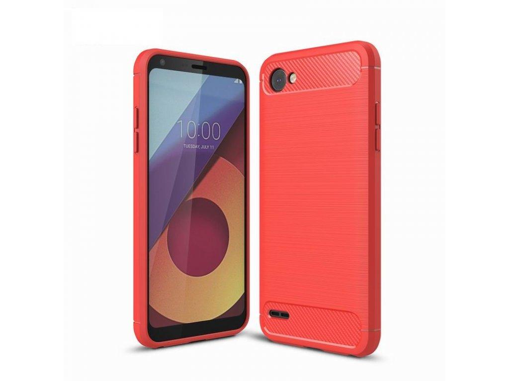 Silikónový kryt (obal) pre LG Q6 - red (červený)