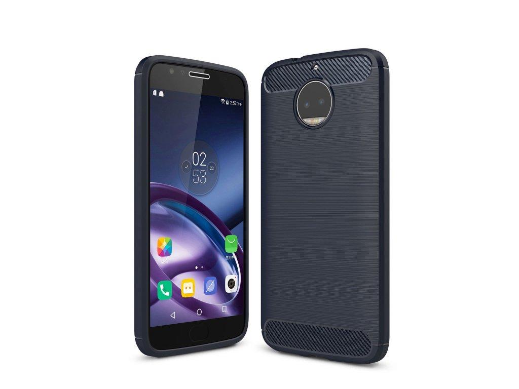 Silikónový kryt (obal) pre Lenovo (Motorola) Moto G5+ (PLUS) - navy blue (tm. modrý)