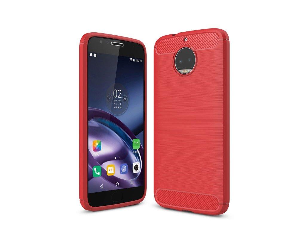 Silikónový kryt (obal) pre Lenovo (Motorola) Moto G5+ (PLUS) - red (červený)