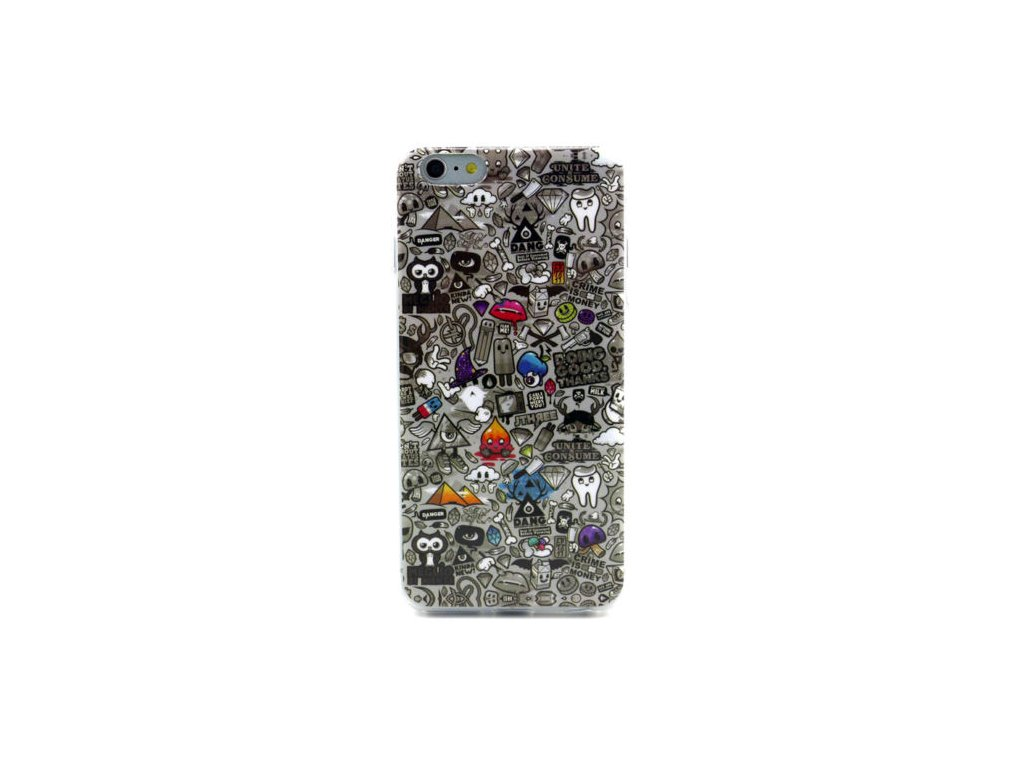 iPhone 6+/6S+ - silikónový kryt (obal) - s potlačou