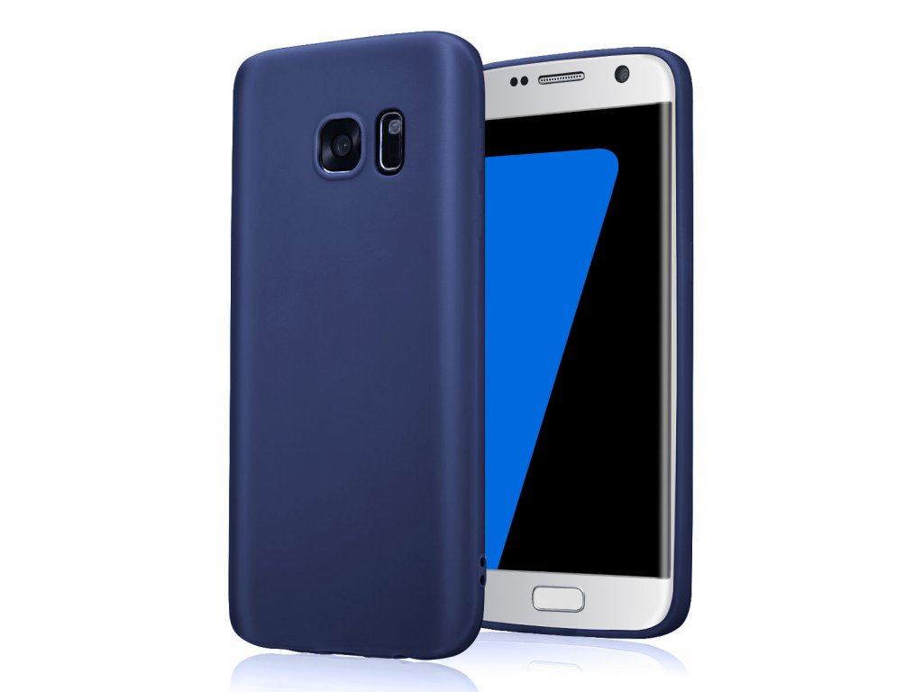 Silikónový kryt (obal) pre Samsung Galaxy S6 Edge - blue (modrý)