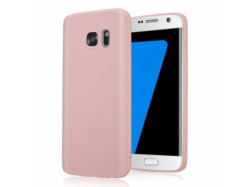 Silikónový kryt (obal) pre Samsung Galaxy S6 Edge - pink (ružový)