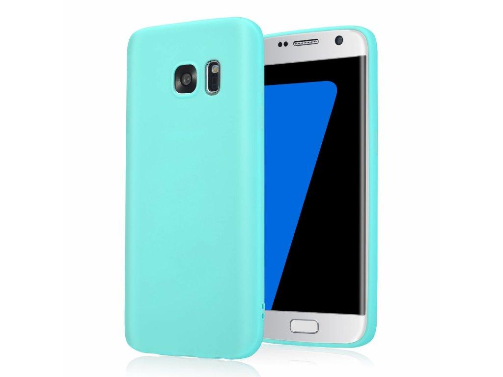 Silikónový kryt (obal) pre Samsung Galaxy S6 Edge - tyrkys (tyrkysový)