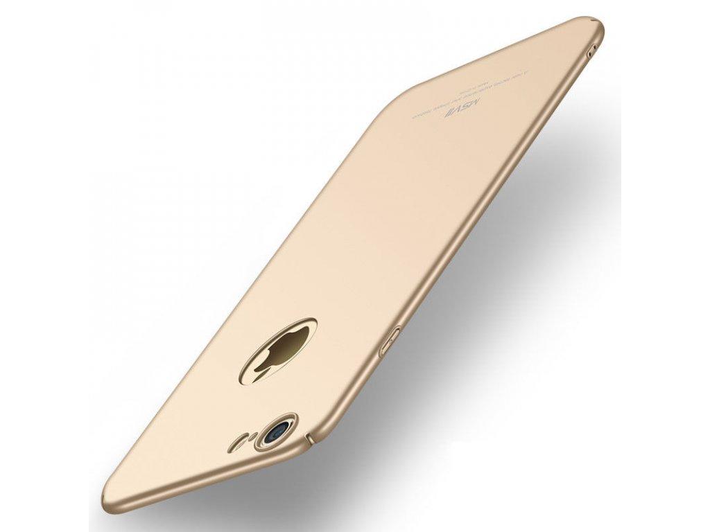 Plastový kryt pre iPhone 6/6S - simple gold