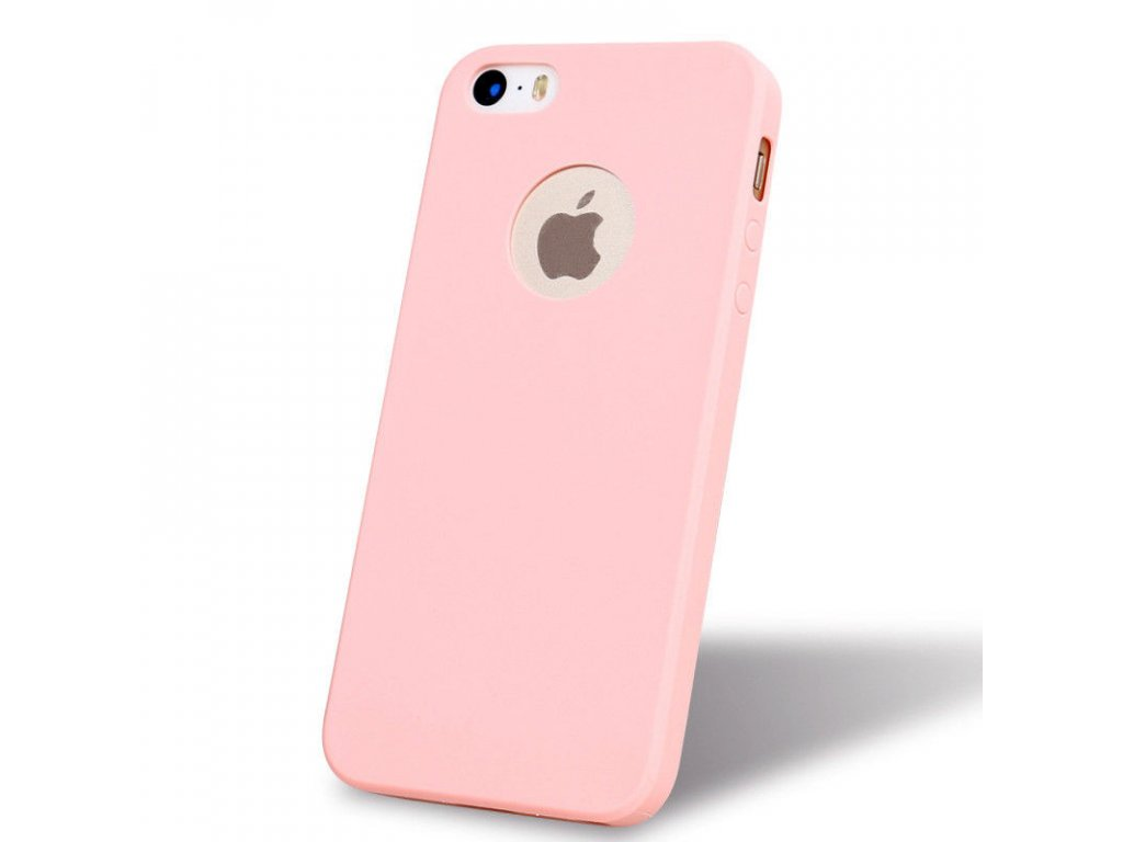 Silikónový obal na iPhone 5/5S/SE ružový