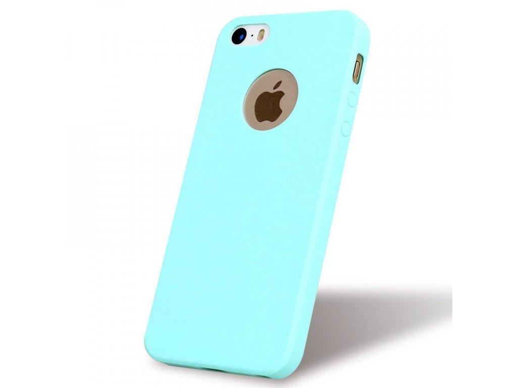 Silikónový kryt (obal) pre Iphone 5 5S SE - tyrkys (tyrkysový 19d0ca79176