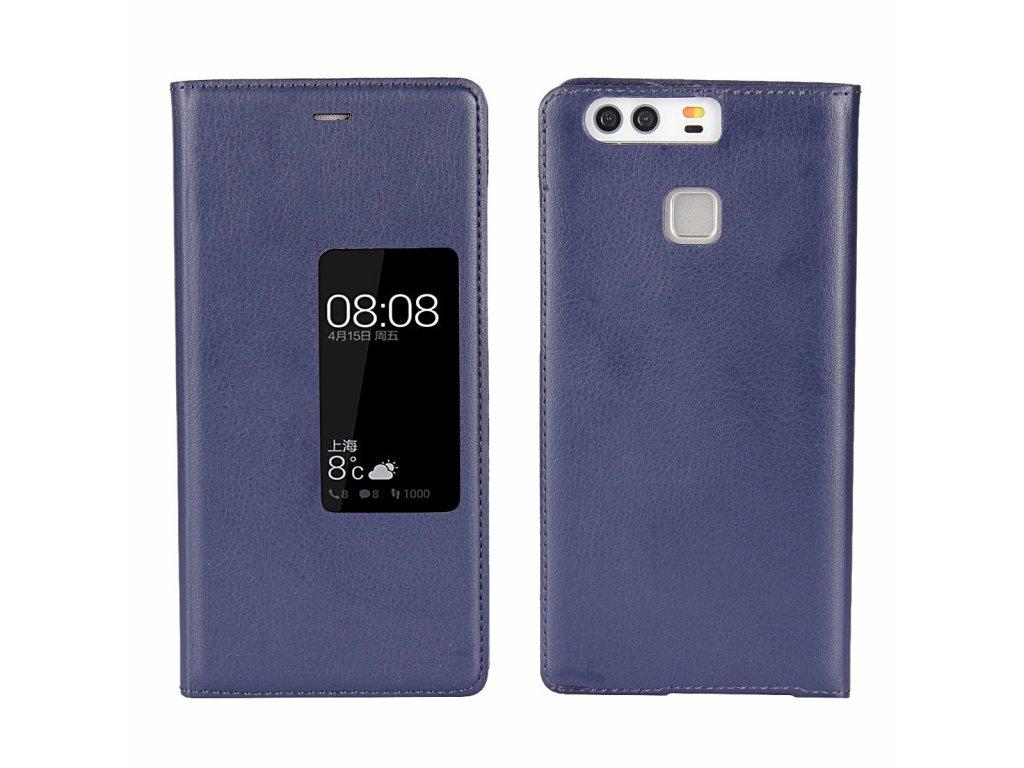 Flip Case (puzdro) pre Huawei P9+ (PLUS) - modré
