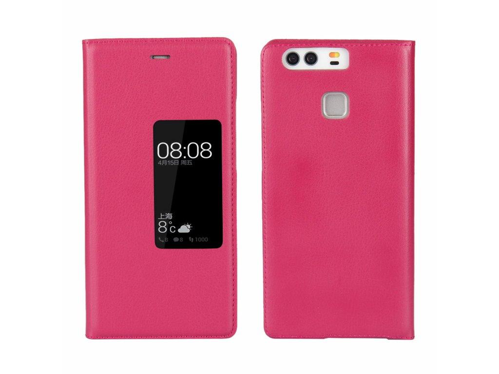 Flip Case (puzdro) pre Huawei P9+ (PLUS) - ružové