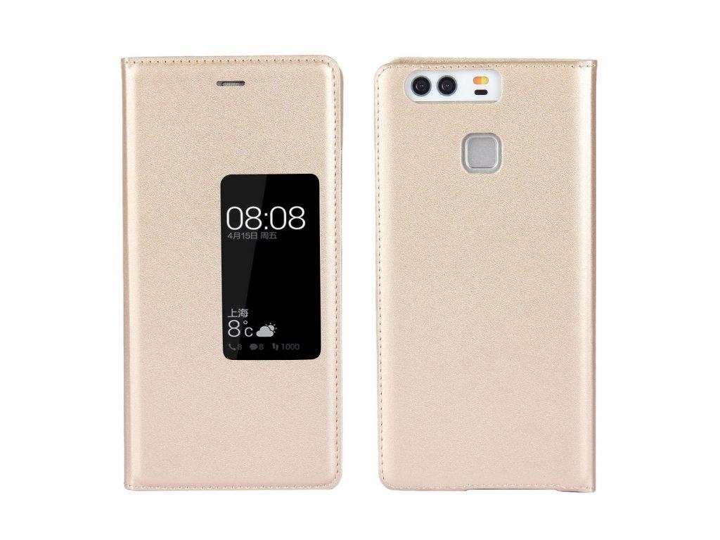 Flip Case (puzdro) pre Huawei P9+ (PLUS) - zlaté