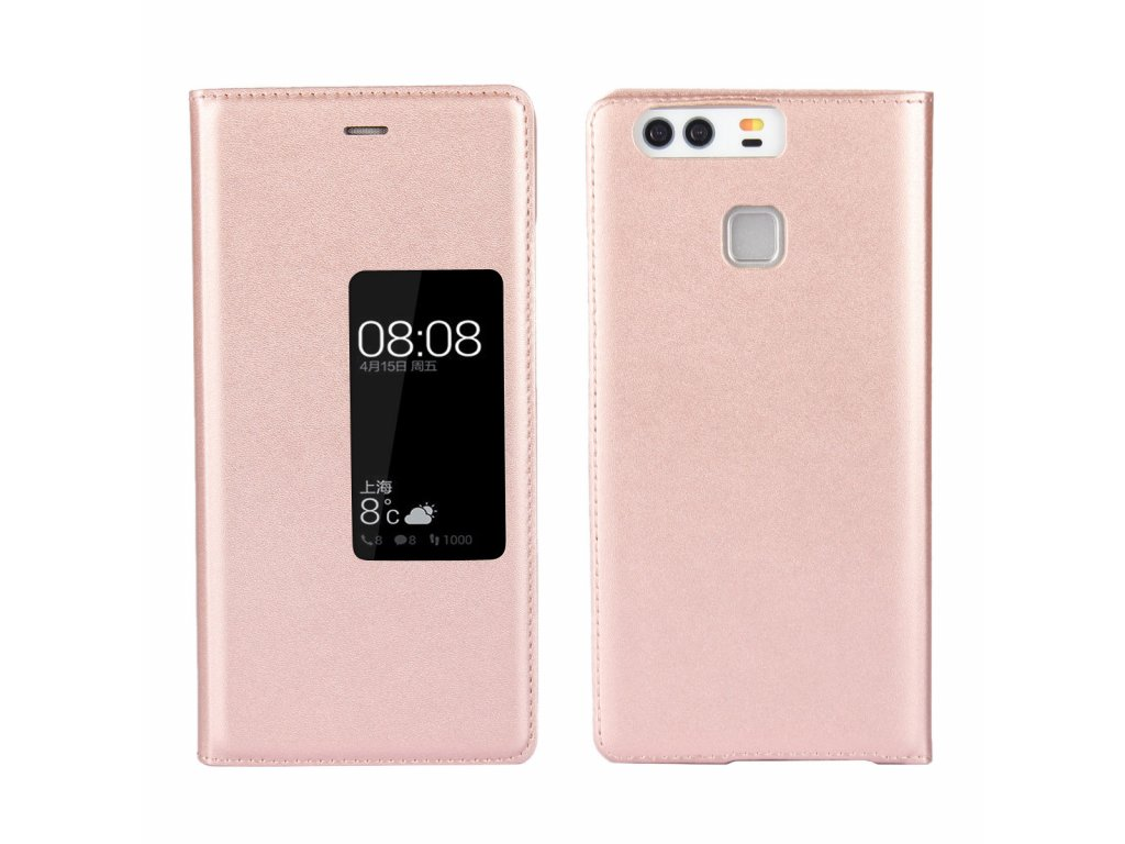 Flip Case (puzdro) pre Huawei P9+ (PLUS) - rose gold