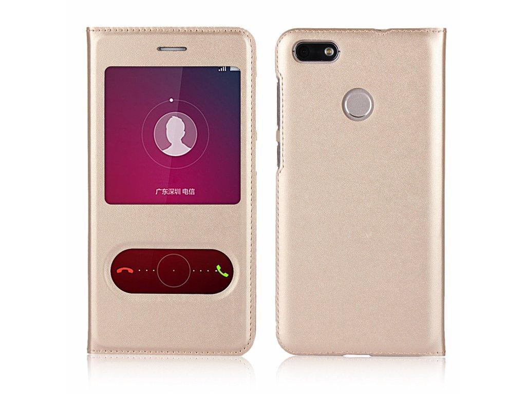 Flip Case (puzdro) pre Huawei P10 Lite - gold (zlaté)