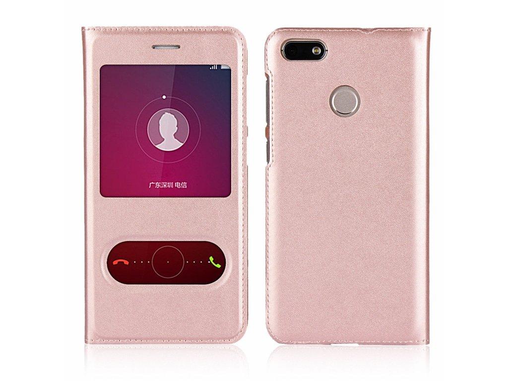 Flip Case (puzdro) pre Huawei P10 Lite - rose gold