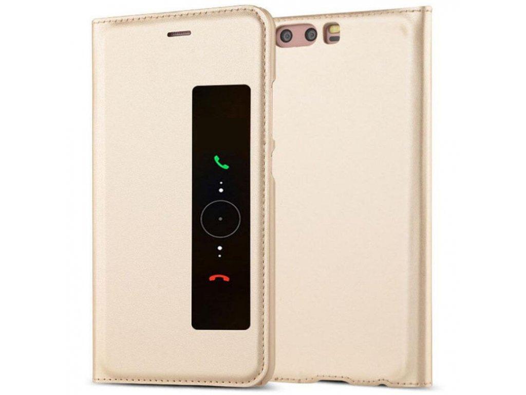 Flip Case (puzdro) pre Huawei P10+ (PLUS) - zlaté
