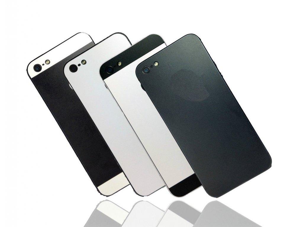 Dizajnová wrap fólia pre Iphone 5/5S/SE - čierne telo a biele okraje