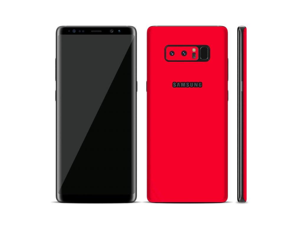 Dizajnová wrap fólia pre Samsung Note 8 - červená