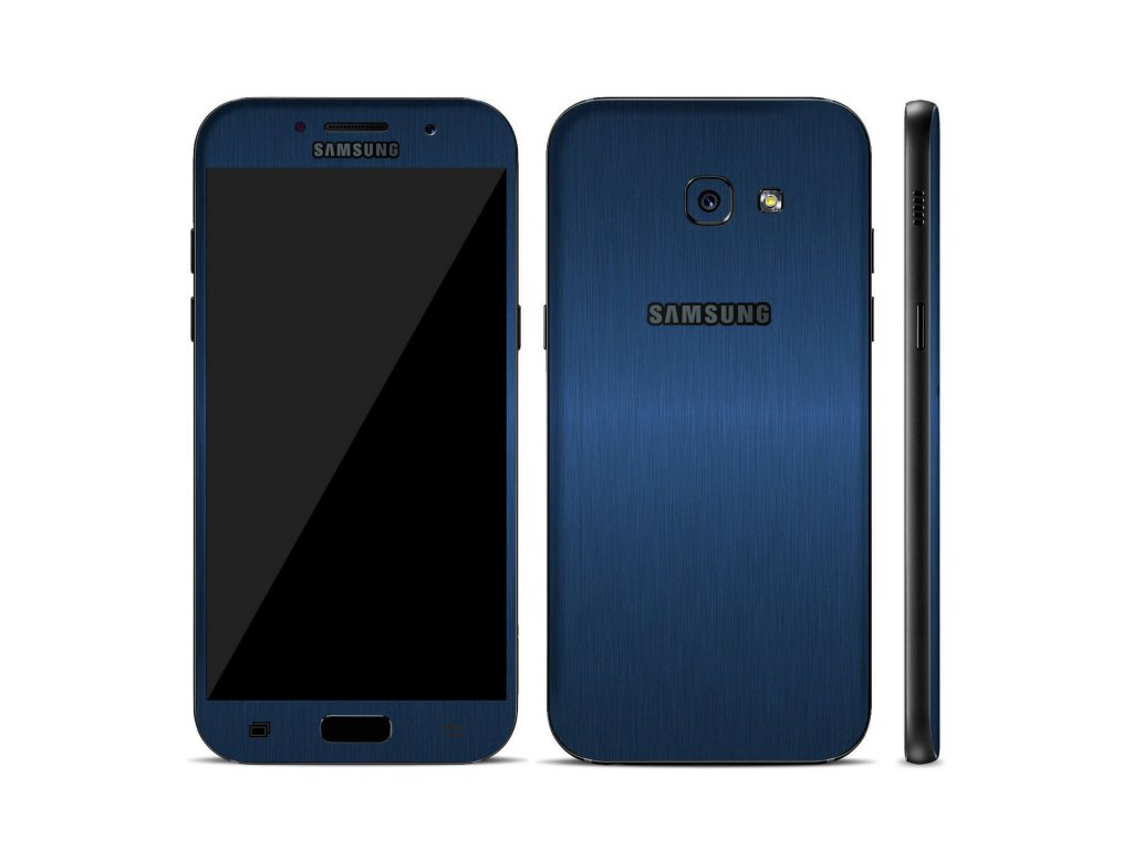 Dizajnová wrap fólia pre Samsung A3 2017 (A320F) - metalická modrá