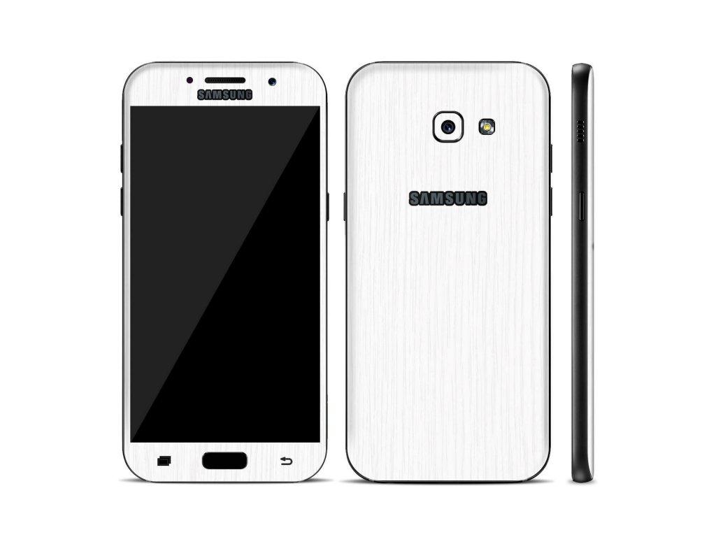 Dizajnová wrap fólia pre Samsung A5 2017 (A520F) - biela (vzor kôry stromu)