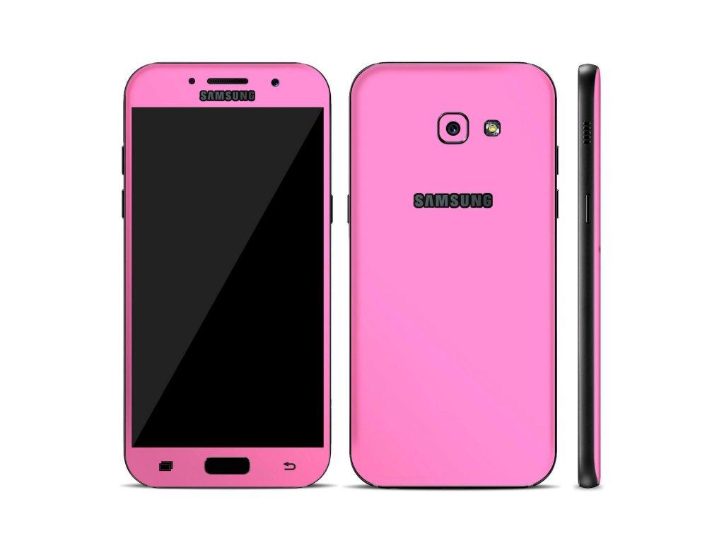 Dizajnová wrap fólia pre Samsung A5 2017 (A520F) - ružová
