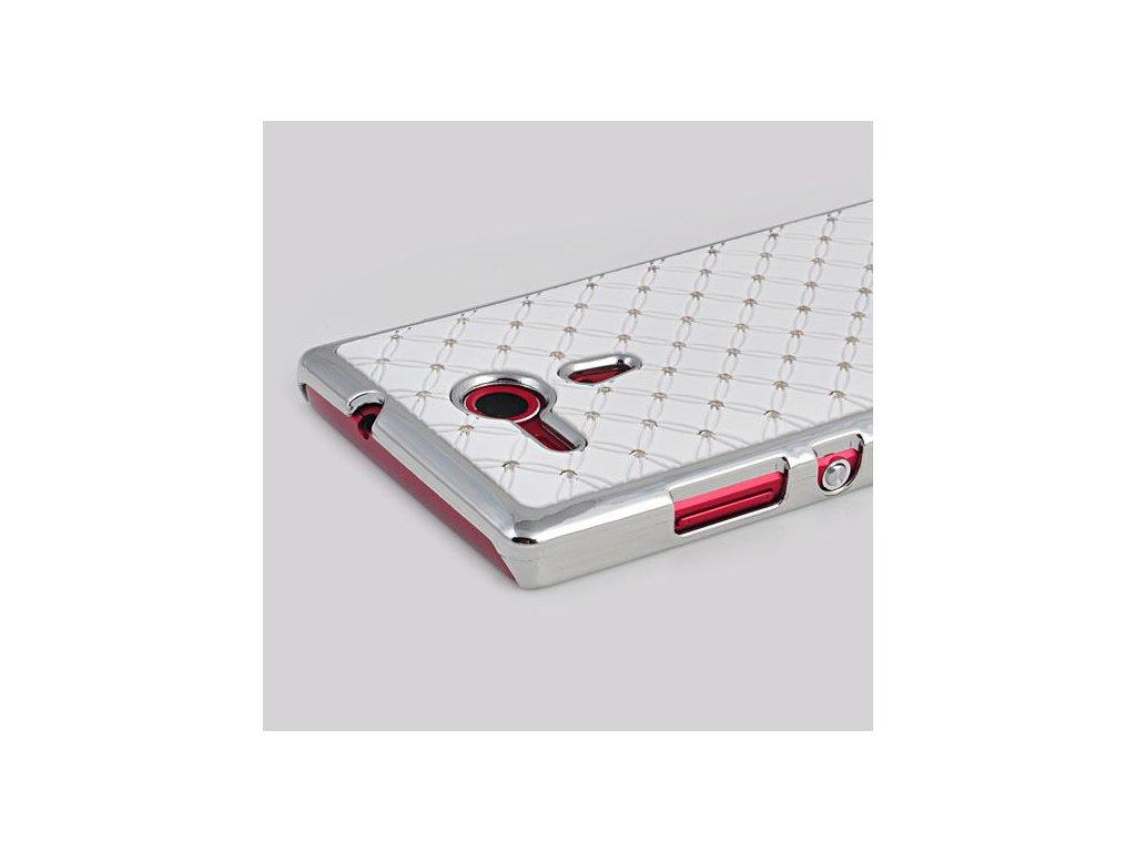 Plastový kryt (obal) pre Sony Xperia L - kamienkový - white (biely)