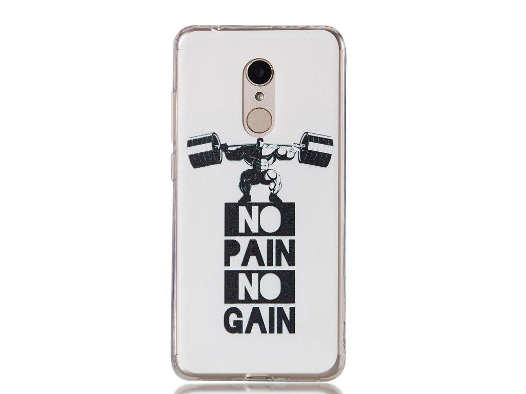 Silikónový kryt (obal) pre Huawei Y6 2018 - no pain no gain