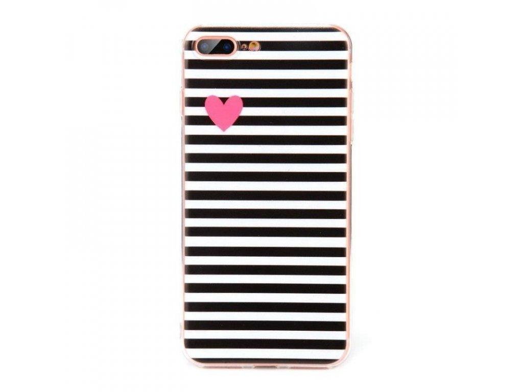 Silikónový kryt (obal) pre Huawei Mate 10 - srdiečkový/čierny