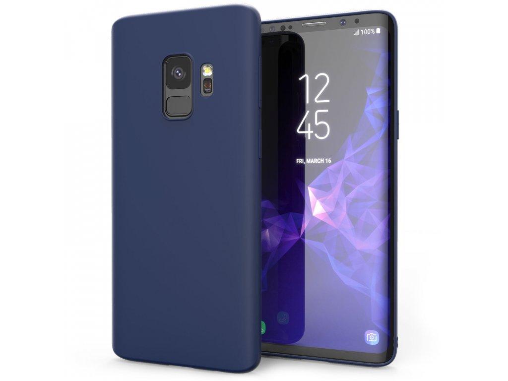 Silikónový kryt (obal) pre Samsung Galaxy S9 - dark blue (tm. modrý)