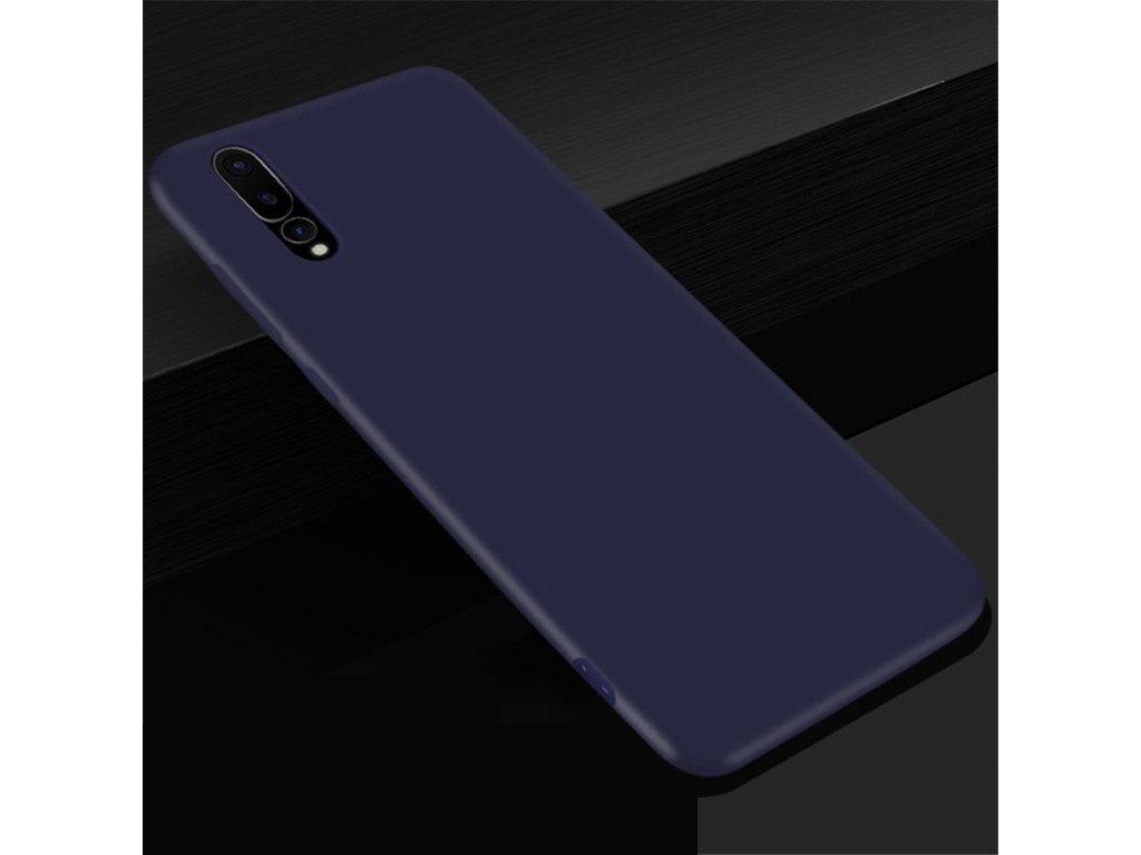 Silikónový kryt (obal) pre Huawei P20 - dark blue (tm. modrý)