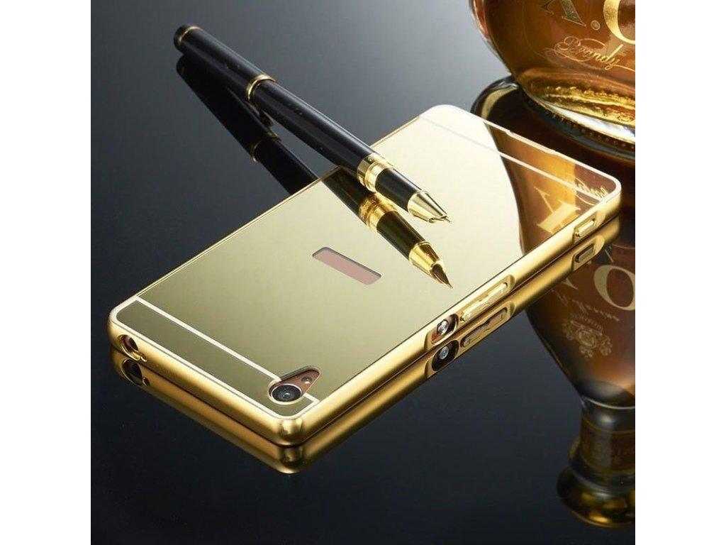 Hliníkový kryt na Huawei P Smart zlatý
