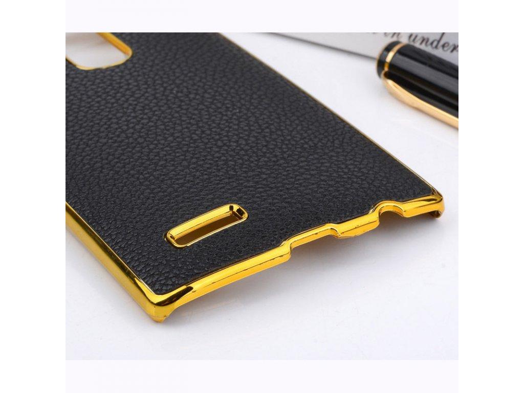 Plastový kryt (obal) pre LG G3 - black + gold (čierny + zlatý ... dca258f42d0