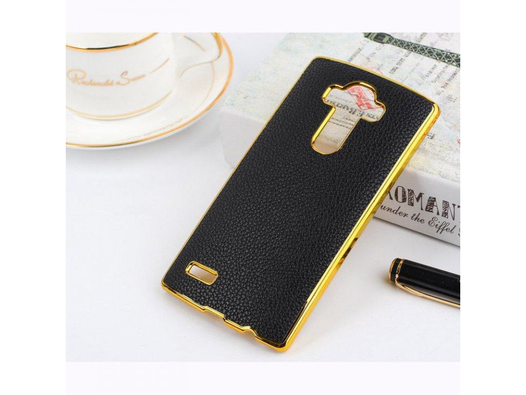 Plastový kryt (obal) pre LG G3 - black + gold (čierny + zlatý)
