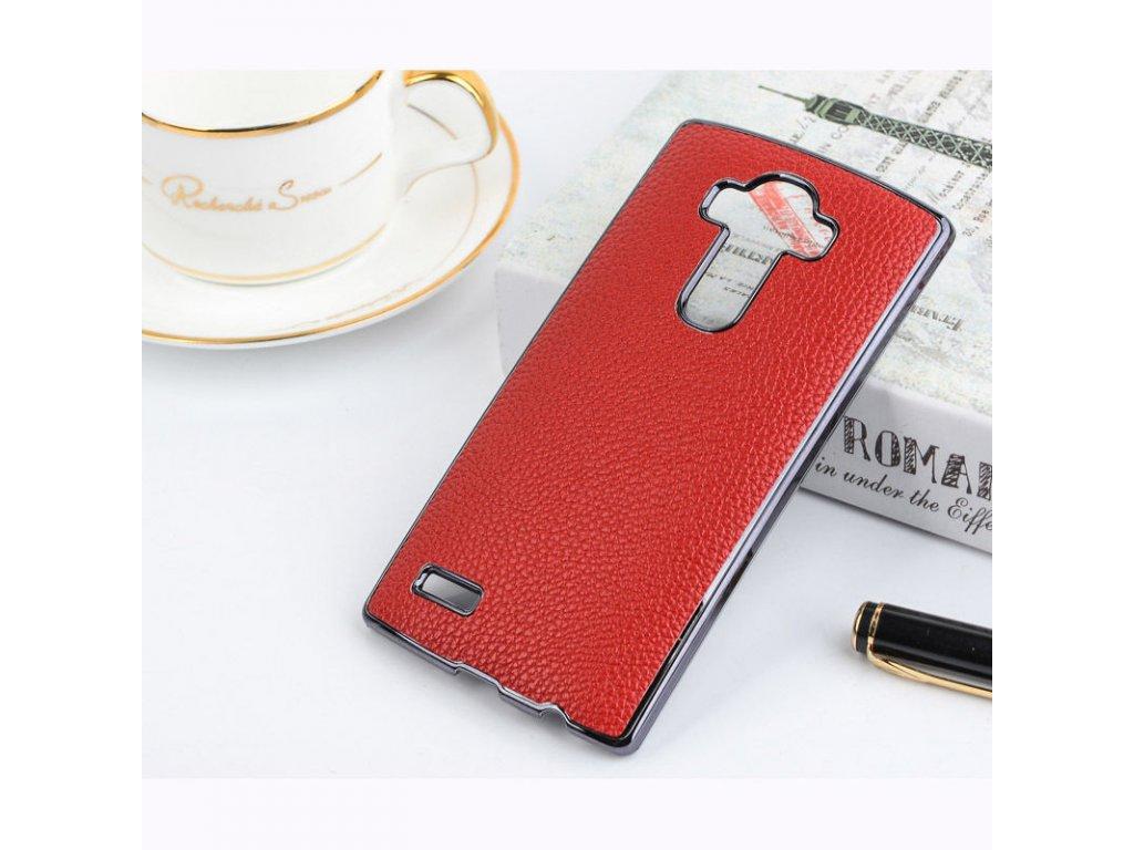 Plastový kryt (obal) pre LG G3 - red + gold (červený + zlatý)