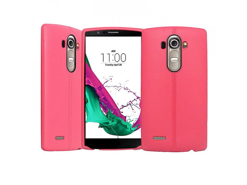 Gumený kryt (obal) pre LG G4 - pink (ružový)