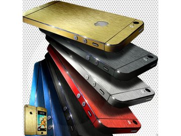 Dizajnová wrap fólia pre Iphone 4/4S - black (čierna)