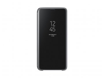 nz clear view standing cover for galaxy s9 ef zg960cbegww frontblack 93503744