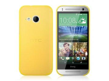 Plastový kryt (obal) pre HTC One mini 2 (M8) - žltý (yellow)