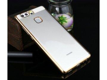 Silikónový kryt (obal) pre Huawei Y5 (2018) - priesvitný so zlatými okrajmi