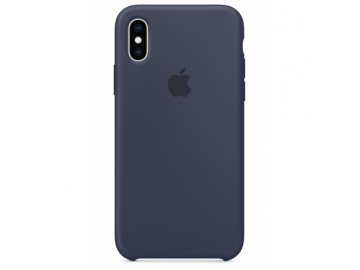 apple iphone xs silicone case midnight blue mrw92zm gallery